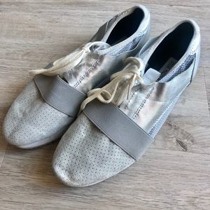Steve Madden silver breathable sneakers- neutral
